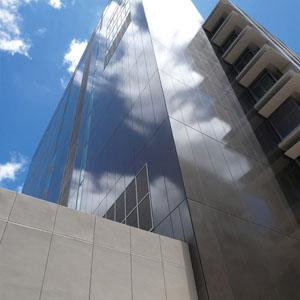 押出成形セメント板「アスロック」|施工例 事務所|株式会社ノザワ